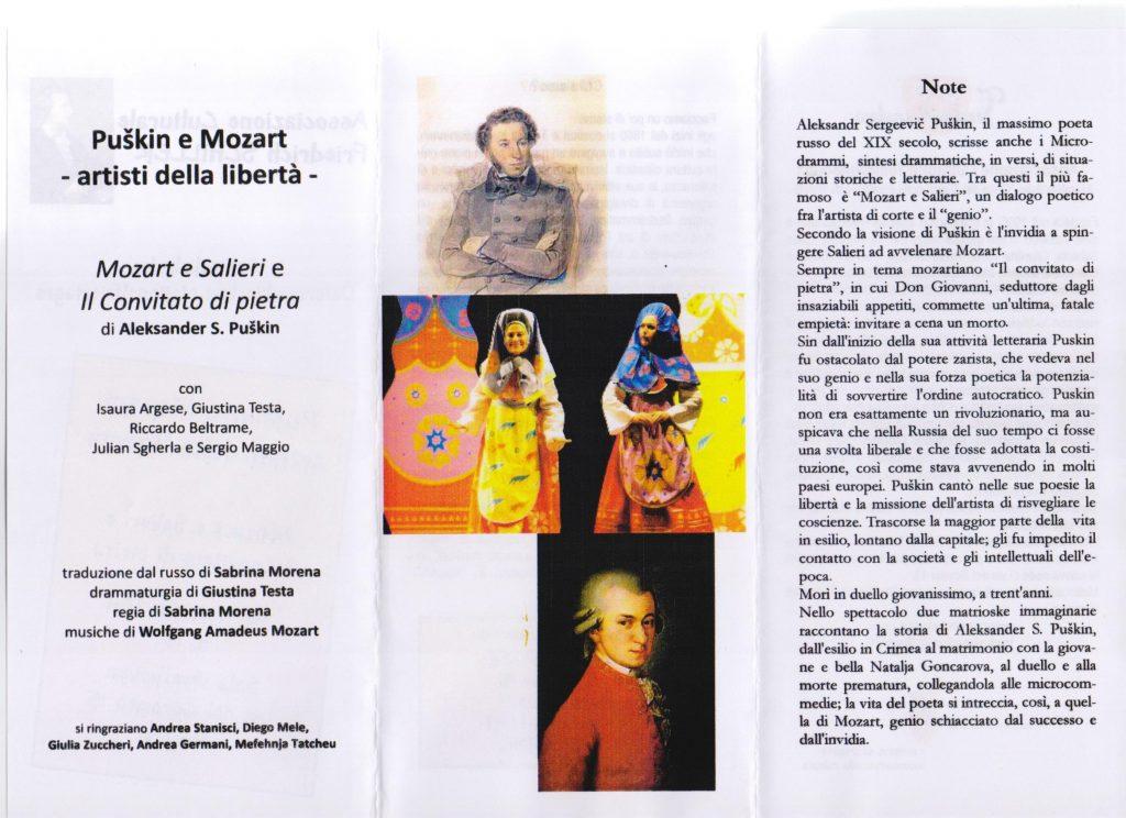 Puškin e Mozart, spettacolo del Teatrobàndus di Trieste, 2011