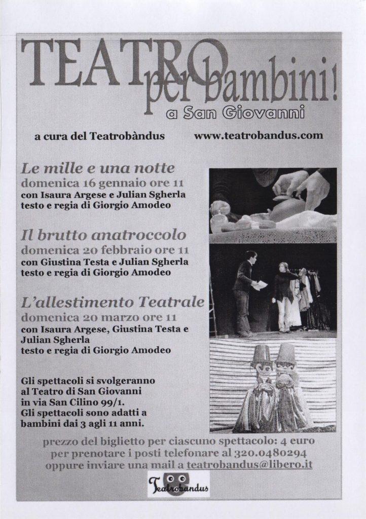 Il teatro per bambini a Trieste firmato Teatrobandus