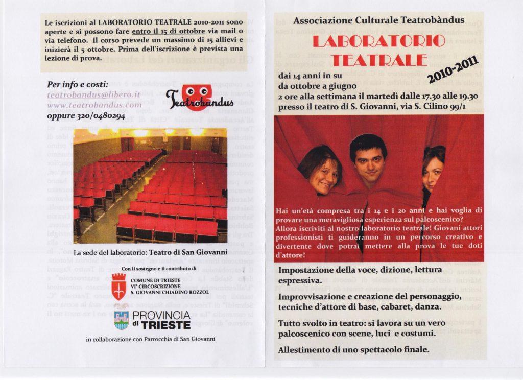 Laboratorio teatrale 14 anni Trieste 2010