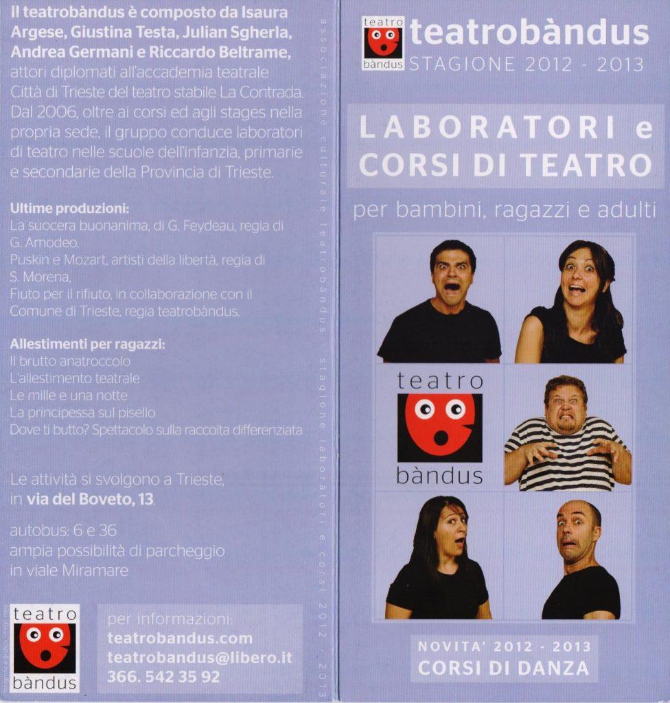 Corsi e laboratori di teatro a Trieste 2014