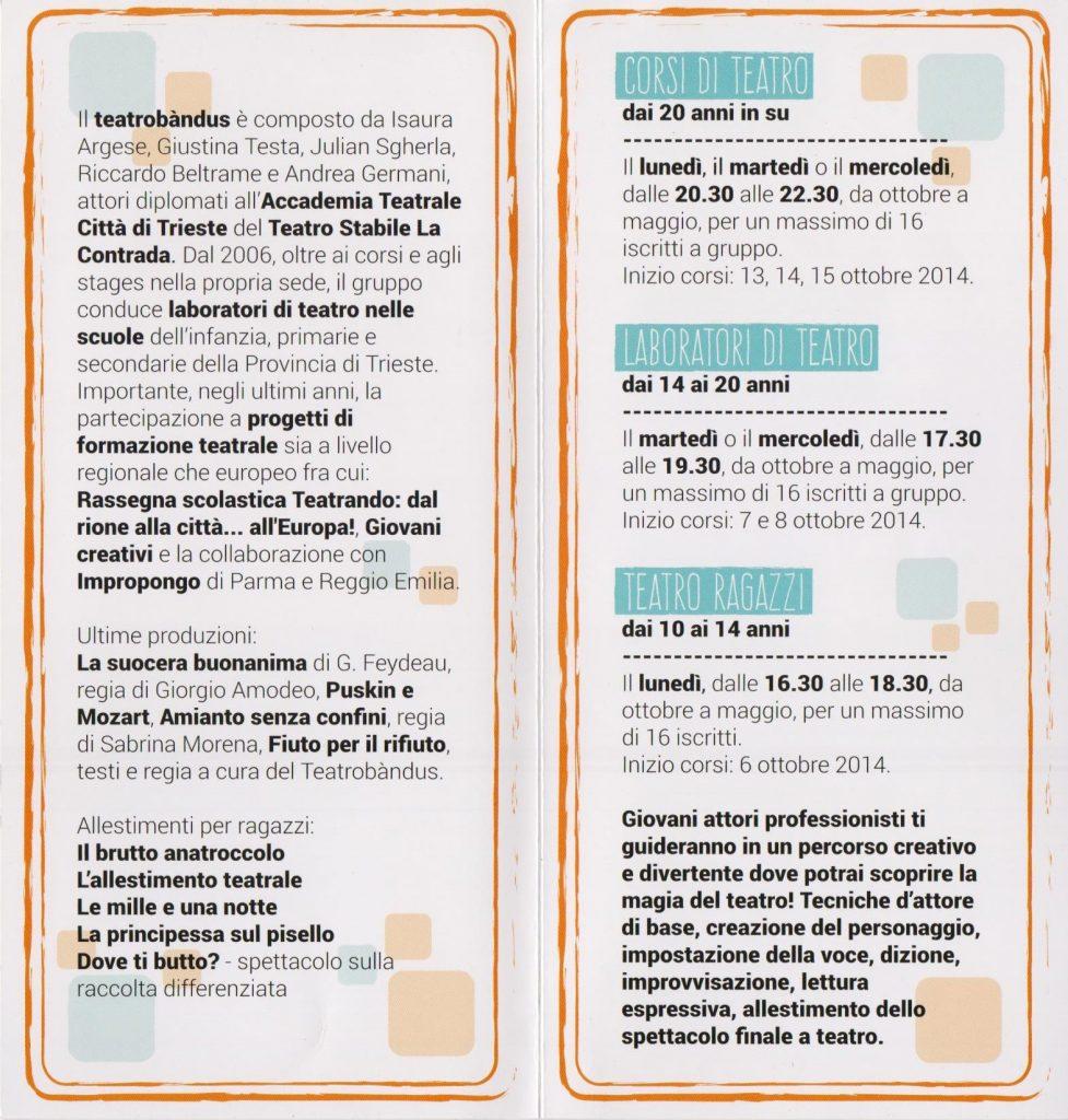 Corsi e laboratori di teatro del Teatro Bandus di Trieste