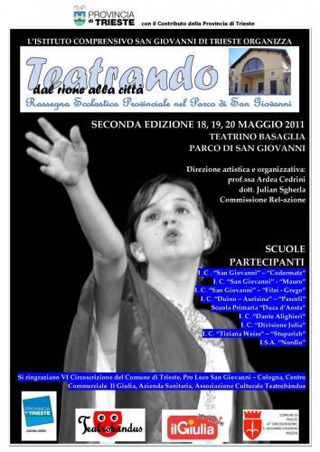 LOCANDINA RASSEGNA SCOLASTICA TEATRANDO DAL RIONE ALLA CITTA 2011