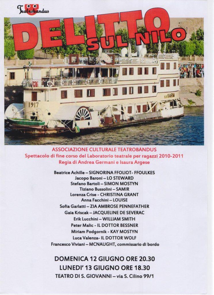 Saggio corso teatro Trieste 2011 Delitto sul Nilo