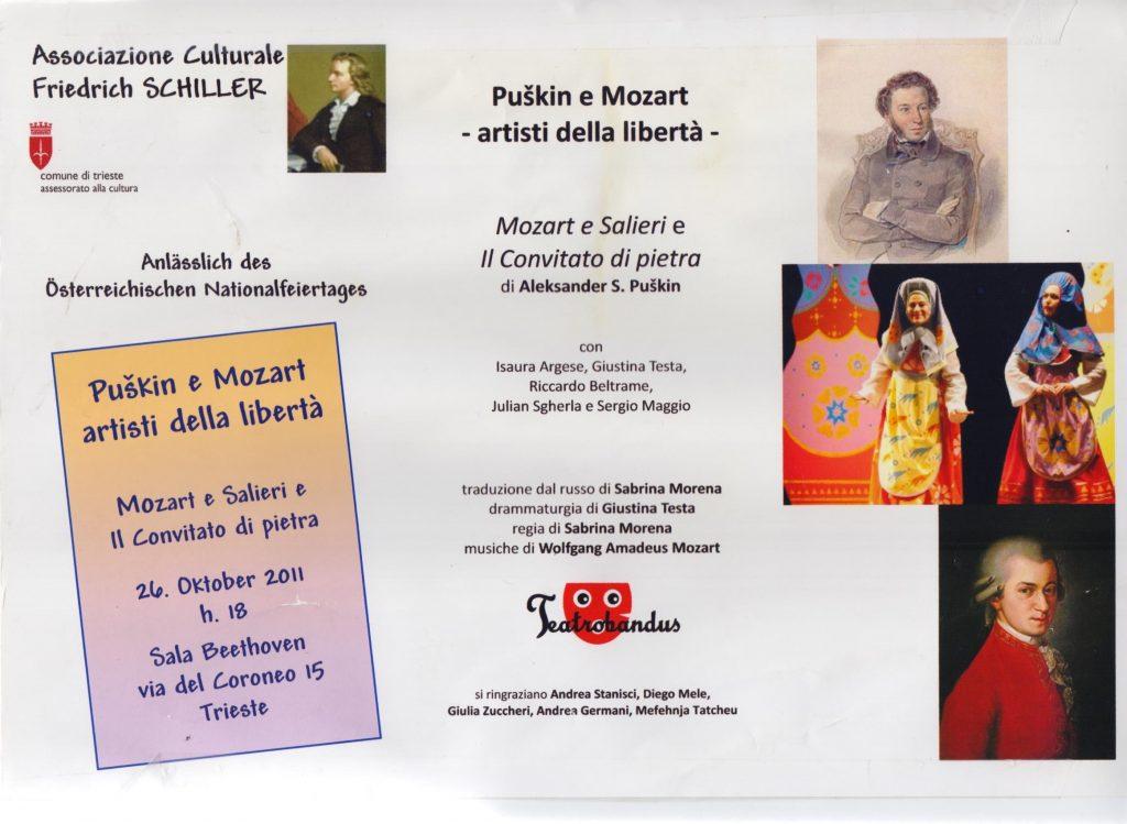 Puskin e Mozart artisti della libertà, Teatro Bàndus, Trieste