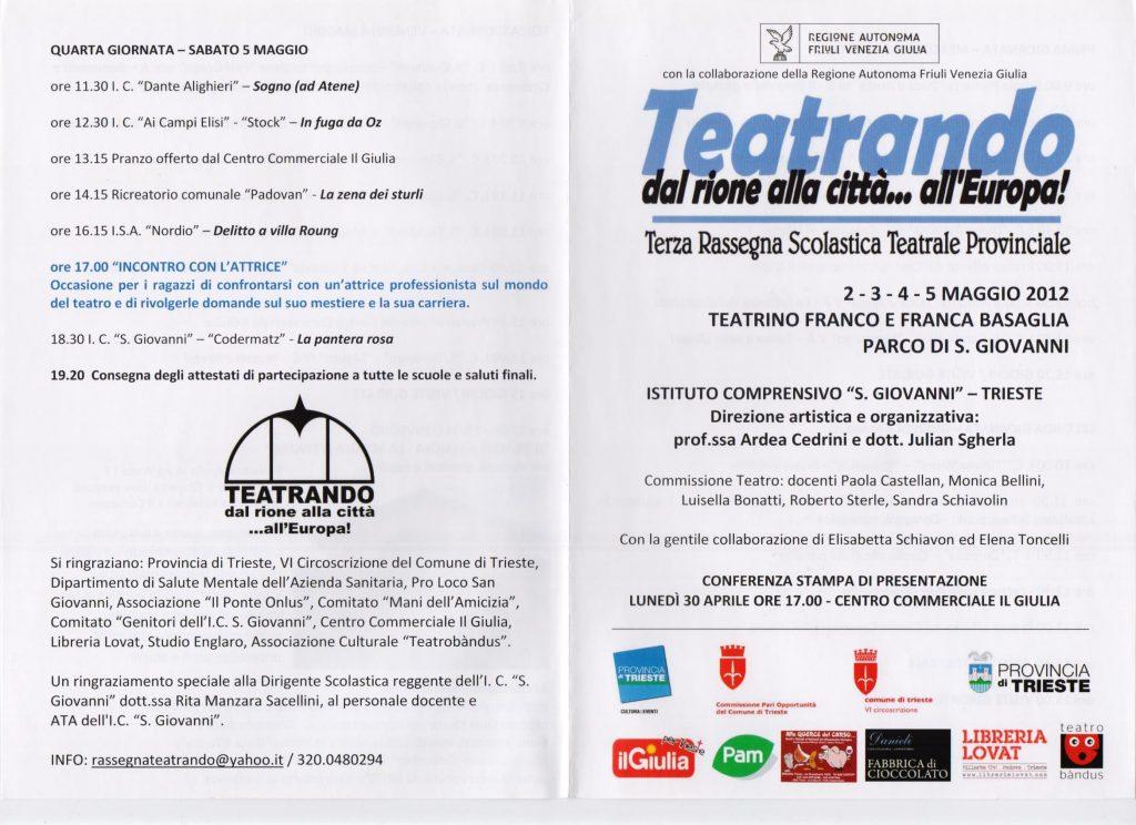 Julian Sgherla del Teatrobàndus cura la terza edizione di Teatrando