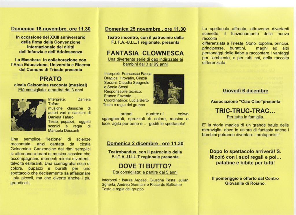 Teatro ragazzi - Dove ti butto a Trieste 2013
