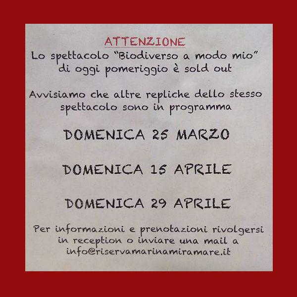 Repliche di Biodiverso a modo mio del Teatro Bandus al BioMa di Trieste